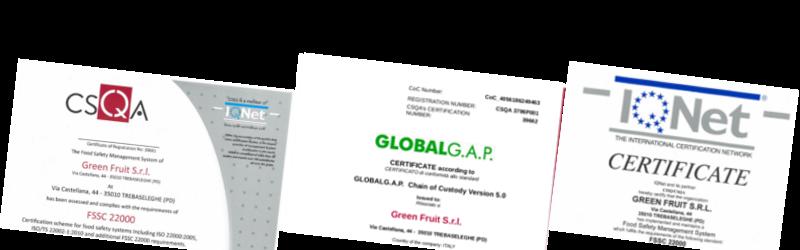 Certificazioni 2015